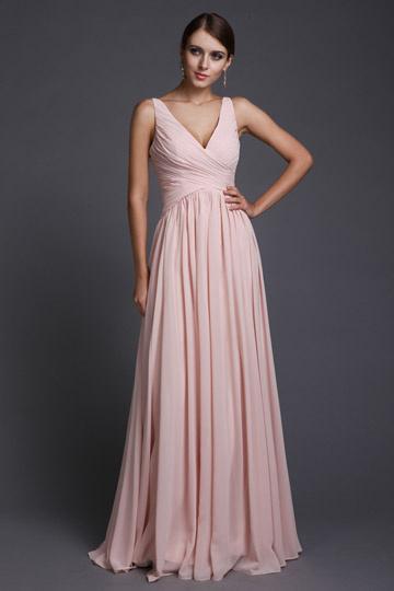 Mousseline Simple Robe Empire Rose Longue – Soirée Pour En l5TcJuFK13