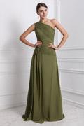 Elegantes 1 Schulter Brautjungfernkleid aus Chiffon