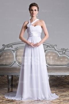 Robe pour mariage asymétrique à traîne Chapelle