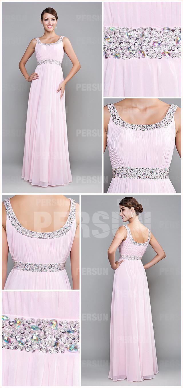 robe demoiselle d'honneur rose pâle