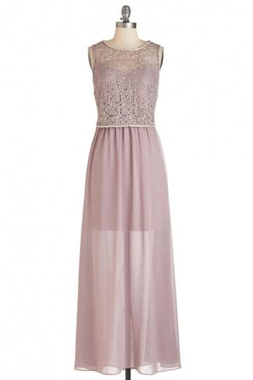 Robe maxi pour soirée mariage automne avec doublure en jupe courte
