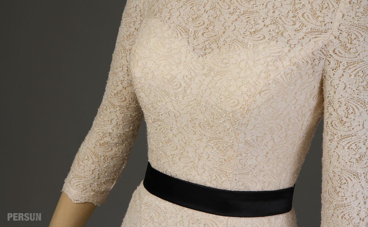 robe femme fourreau taille cintrée pour cocktail mariage
