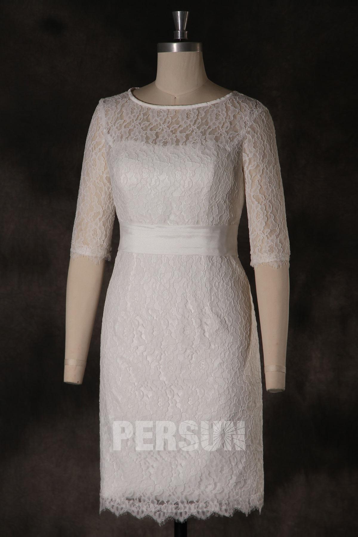 Robe dentelle enceinte pour soirée de mariage ou cortège mariage