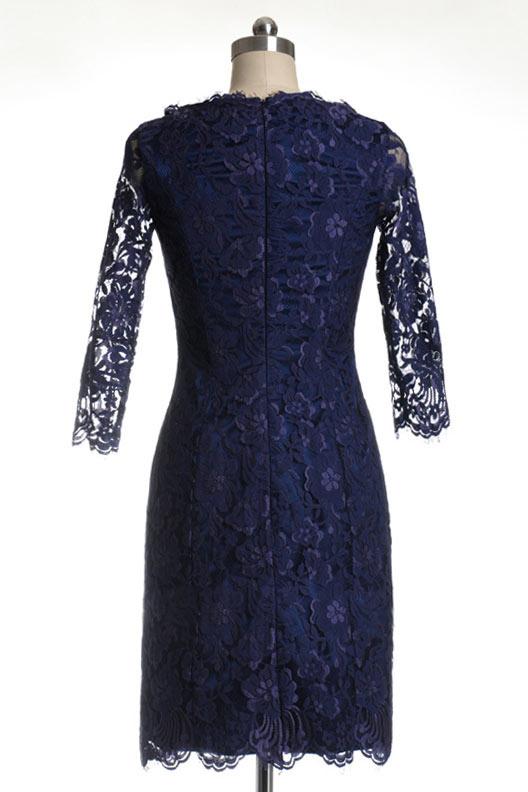 robe de soirée dentelle pour mariage à fermeture éclaire dissimilée dans le dos