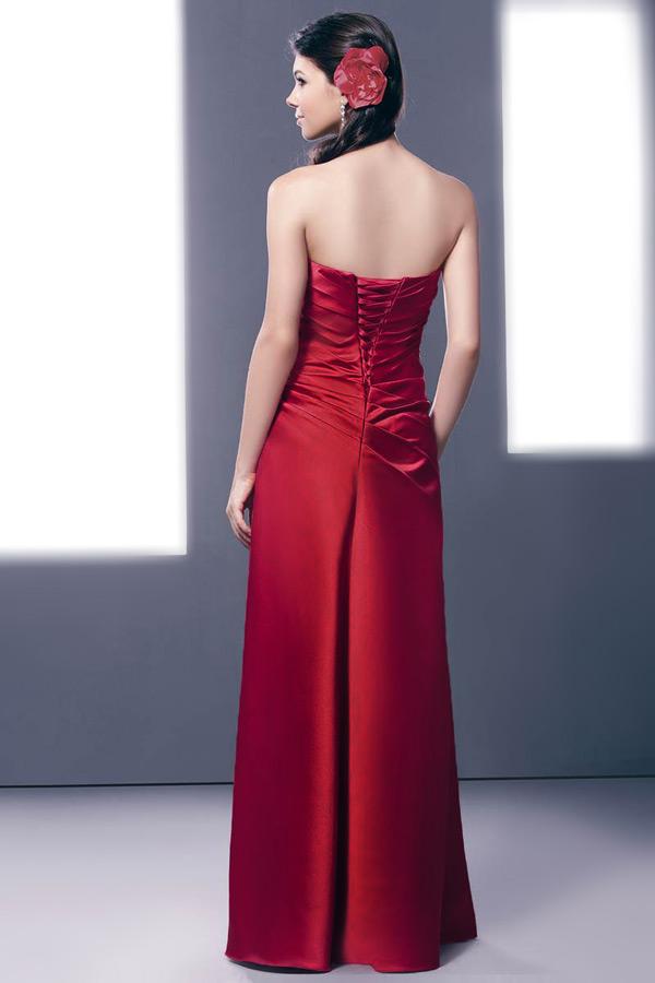 Robe longue bustier vague vintage pour cortège mariage