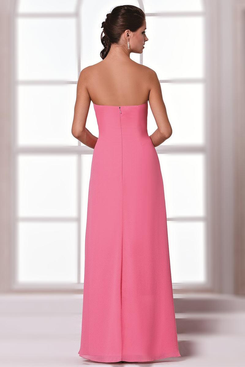 Robe longue pour mariage bustier cœur taille drapée