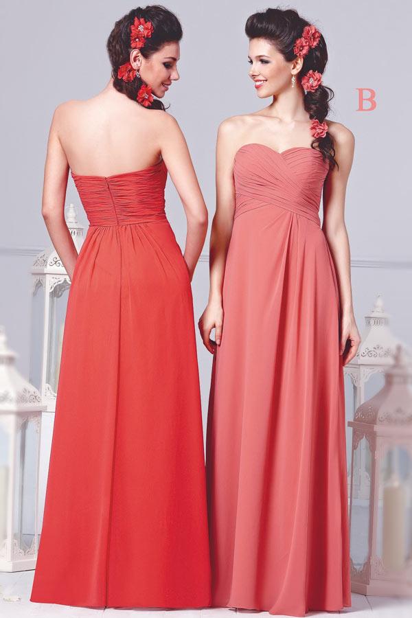 Simple robe bustier cœur plissée empire pour mariage d'été