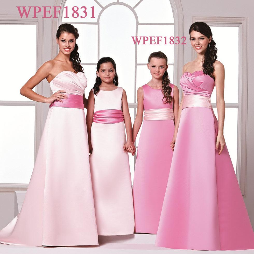 robe demoiselle d'honneur rose longueur bustier cœur plissé avec ruban à taille