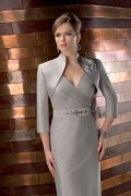 3 4 Length Sleeves Satin Special Occasion Wrap