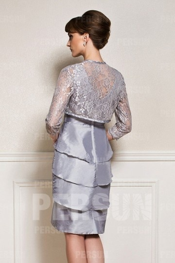 Veste grise pour mariage femme