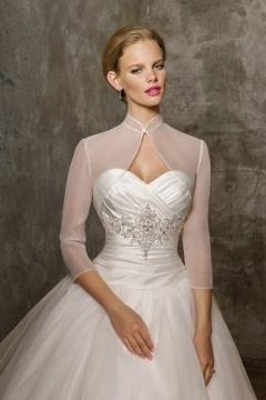 Boléro semi-transparent pour robe de mariée