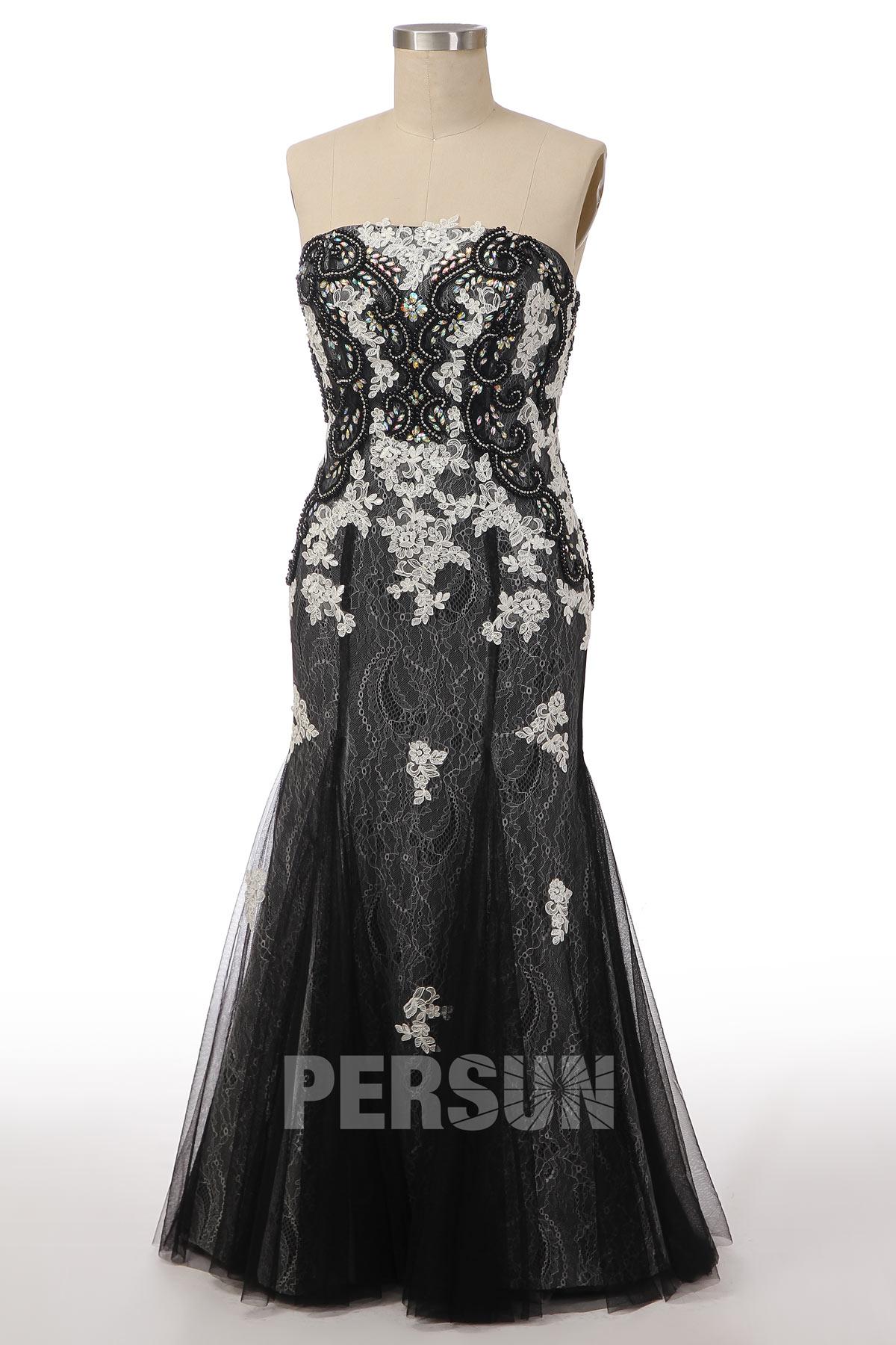 magnifique robe de soirée 2019 coupe sirène en dentelle noir