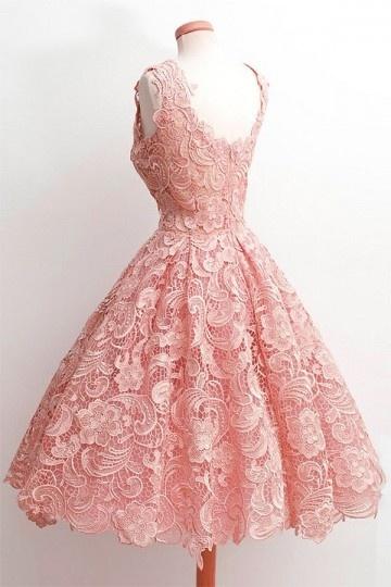 Petite Robe Rose Vintage En Dentelle Guipure Pour Anniversaire Persun Fr