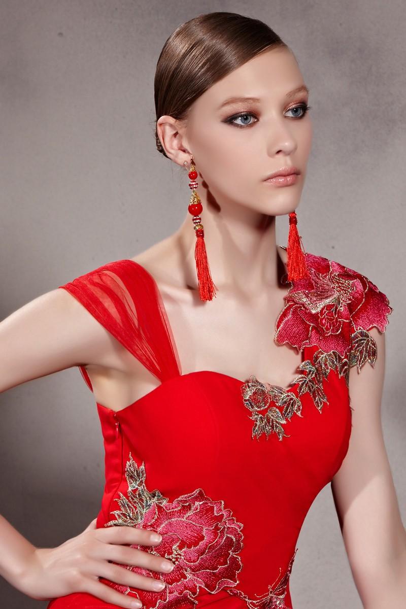 robe Longue couleur rouge