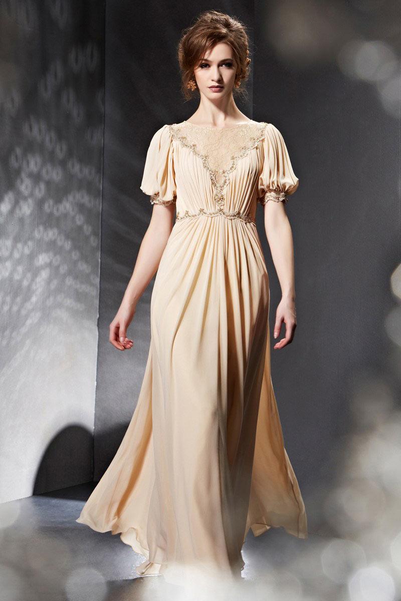 comment acheter artisanat de qualité vaste gamme de Longue robe à manche paysan ornée de dentelle - Persun.fr