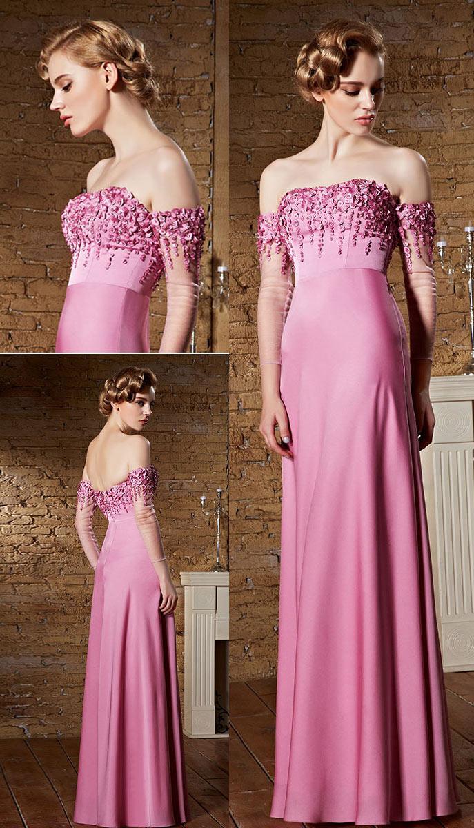 robe rose à haut brodé de sequins