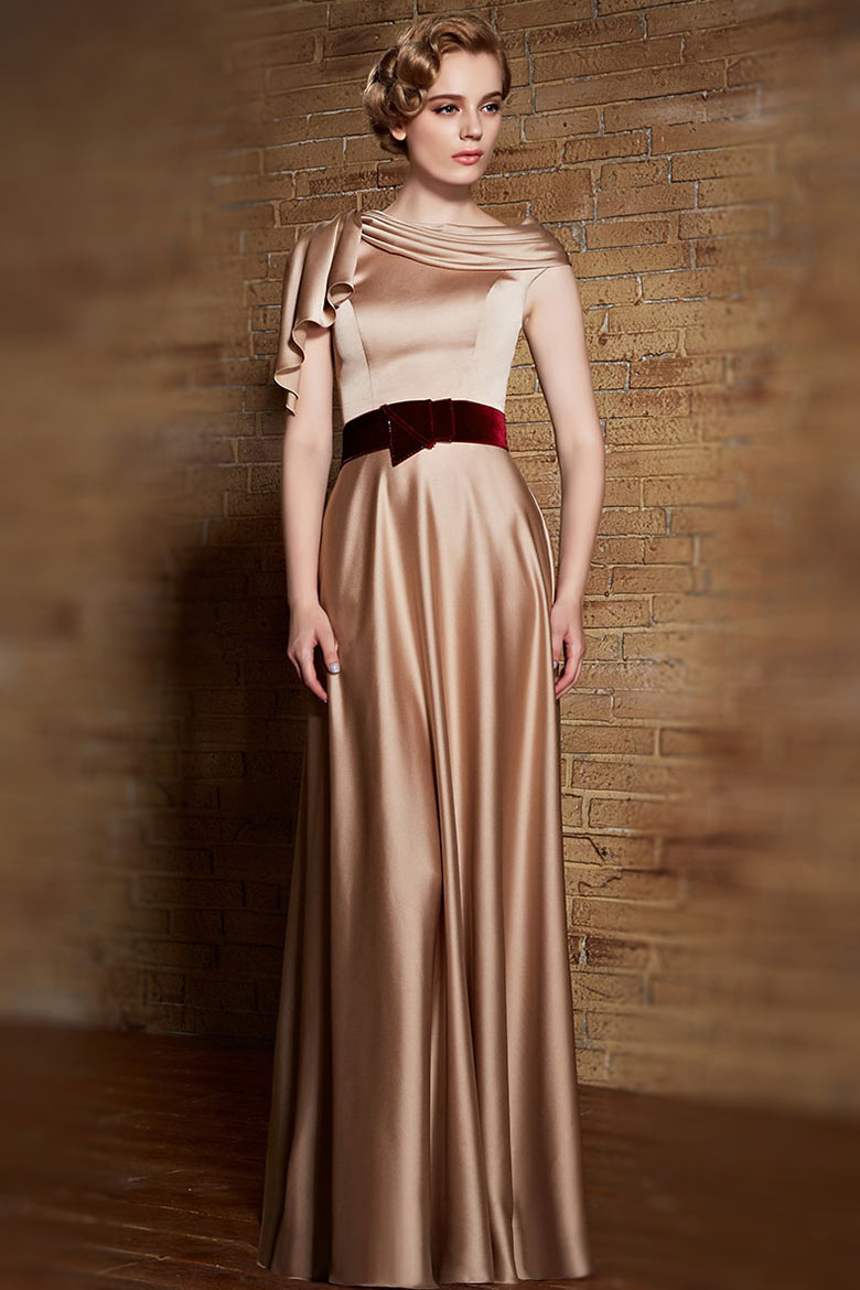 Robe de soiree velour