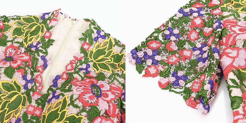 Robe florale décolleté V glamour