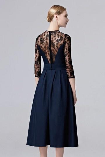 tres longue robe bleue