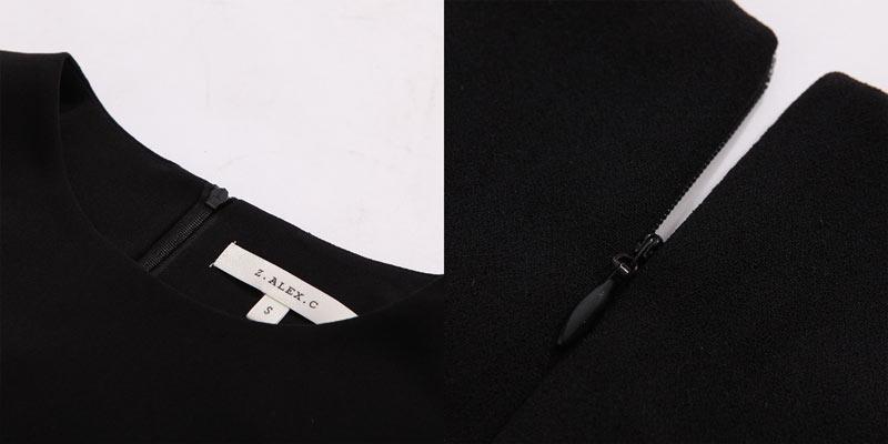 Fermeture éclair de petite robe noire