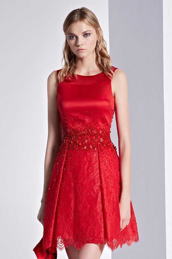 Robe de mariee cocktail rouge