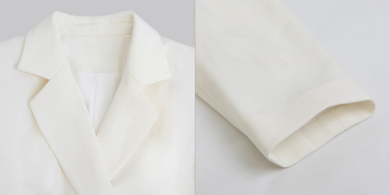 Robe chemisier moderne col tailleur dotée de manche longue