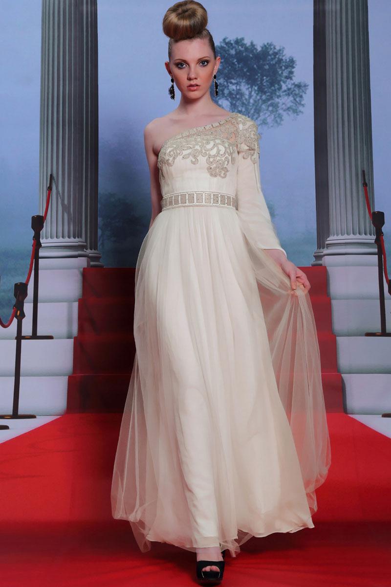 Robes de soiree blanche longue