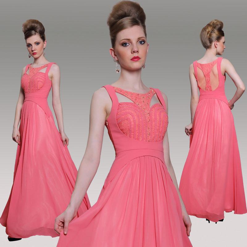 robe de soirée rose pastèque exotique & originale