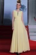 A-Linie V-Ausschnitt Chiffon Kleid für Ball und Homecoming