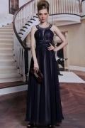 A-Linie U-Ausschnitt Chiffon Kleid für Abend und Ball
