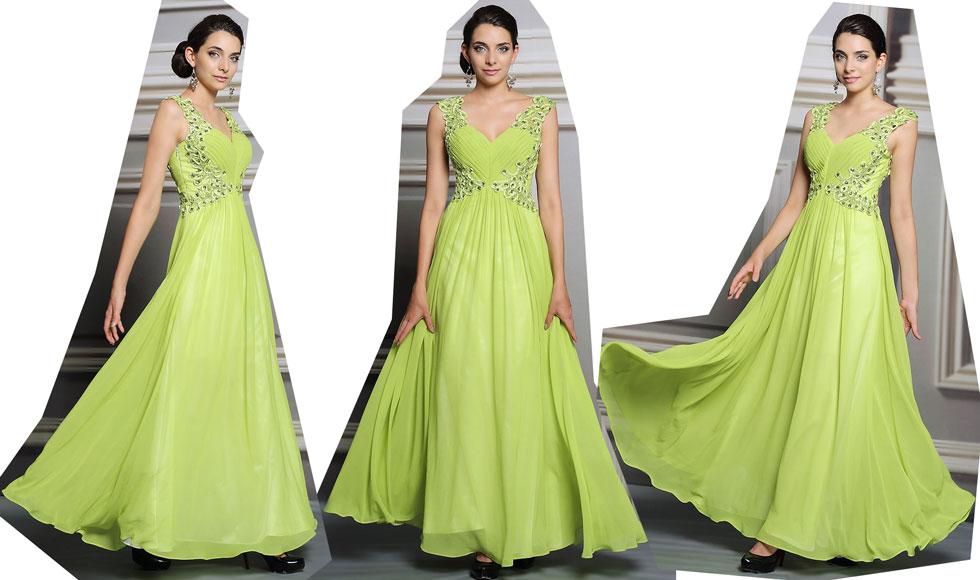 robe de soirée vert pistache 2021
