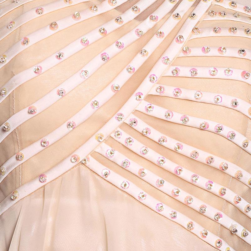 Robe courte simple pour demoiselle d'honneur en mousseline
