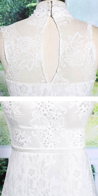 robe blanche pour cérémonie en dentelle orné de perles
