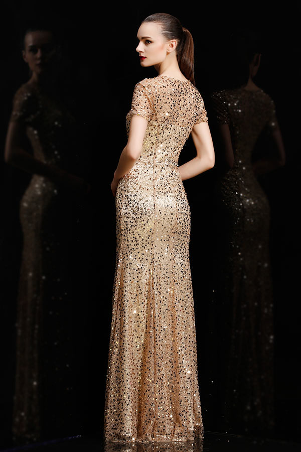 robe de gala en sequin splendide