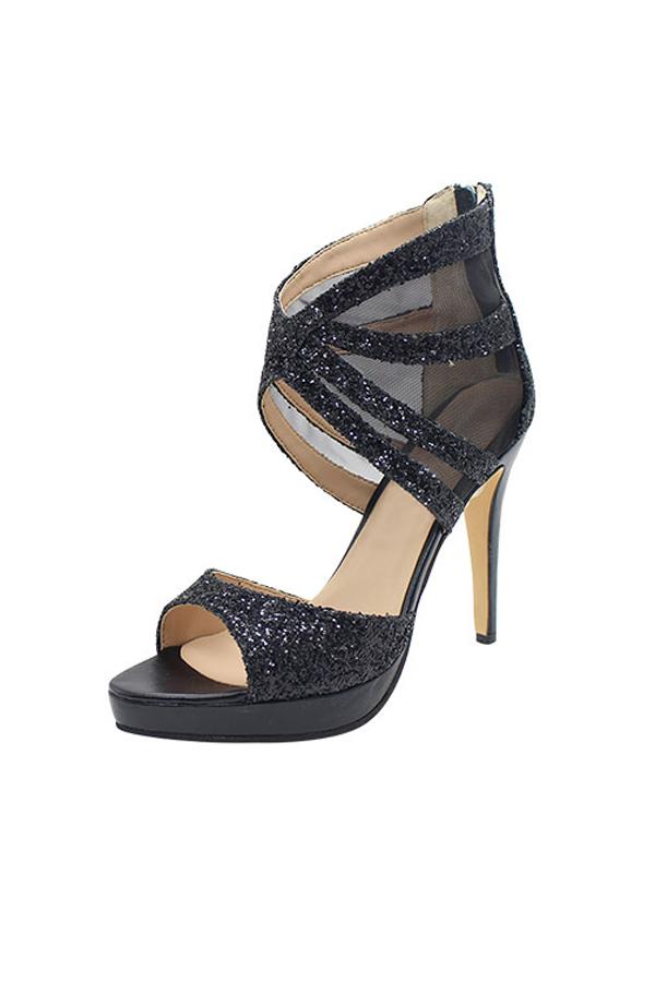 Sandales à talons pointus noir