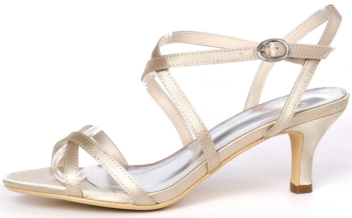 sandales à dessus en satin soyeux