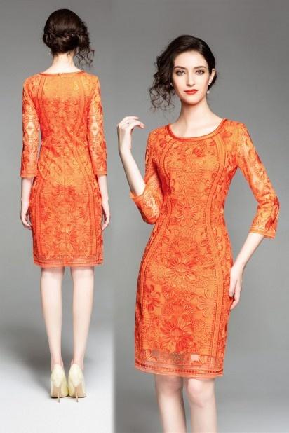 Robe mariage orange 84