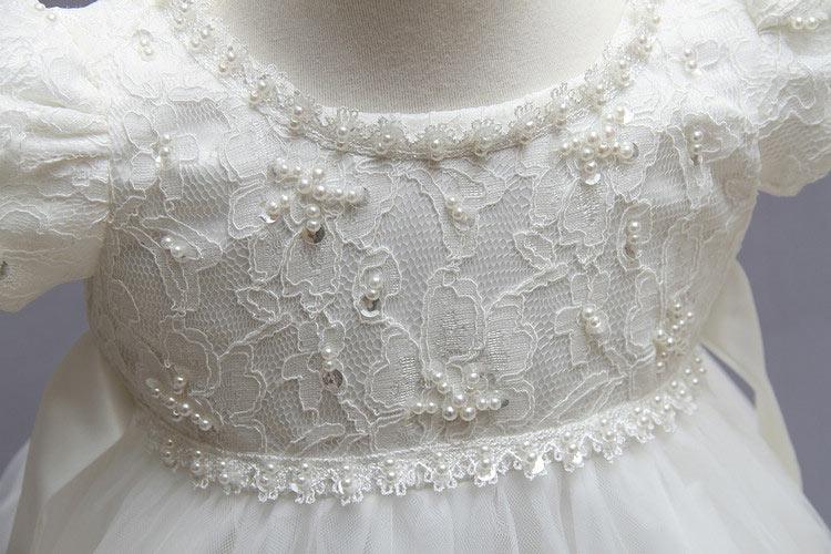 Robe de communion fille en dentelle
