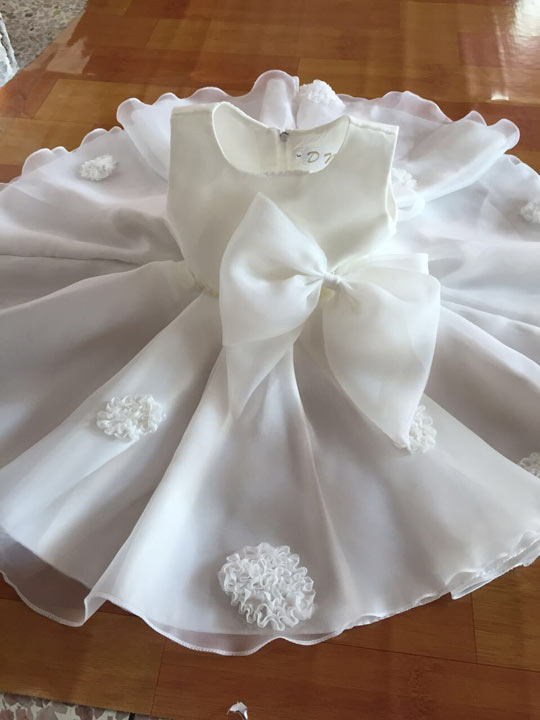 Robe de communion fillette