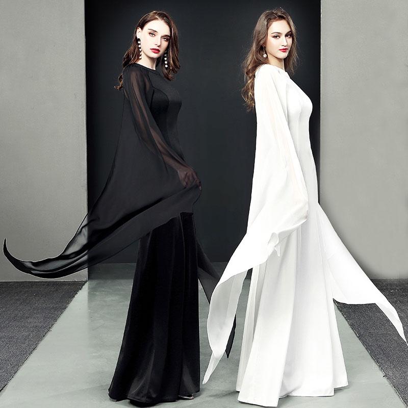 robe demoiselle d'honneur noire blanche pas cher manches