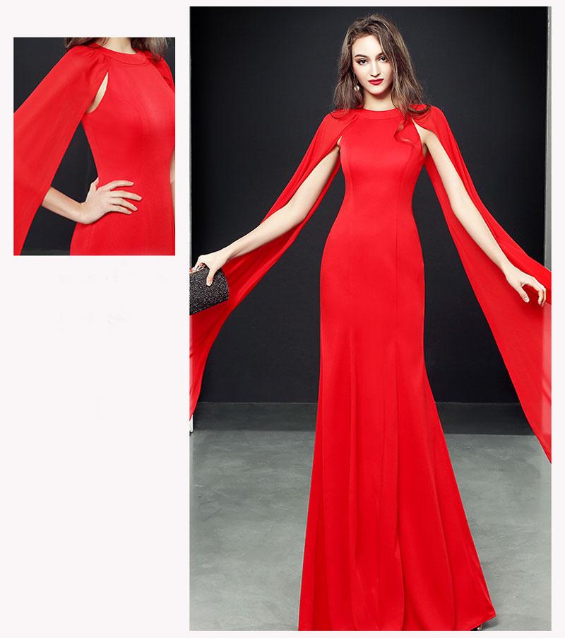 robe soirée rouge fashion pas cher