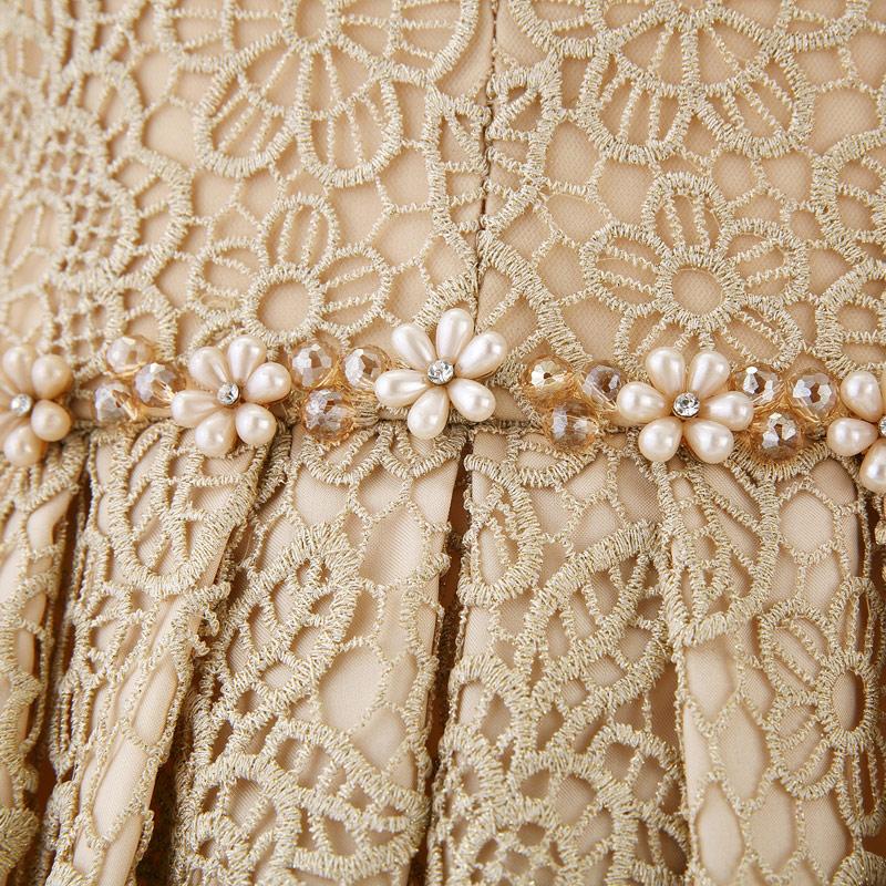 robe de soirée pour noël à la taille orné de perles