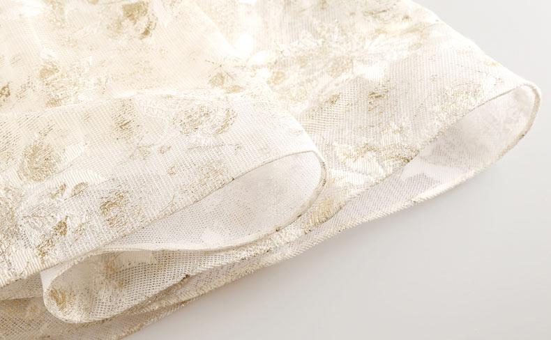 robe de dentelle de soirée mi longue empiècement de dentelle florale