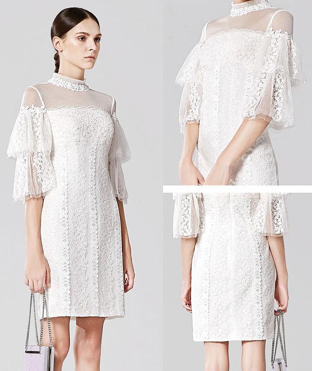 robe gothique dentelle blanche 2018