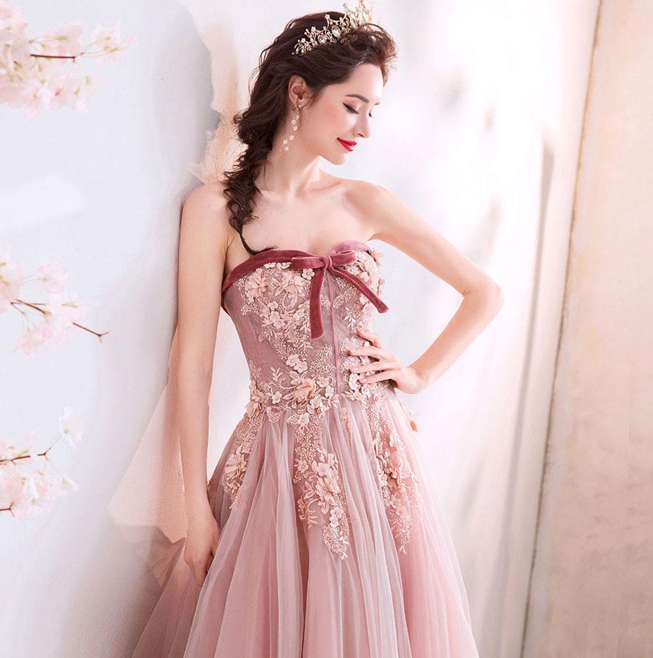 robe élégante brodée pour soirée mariage pas cher