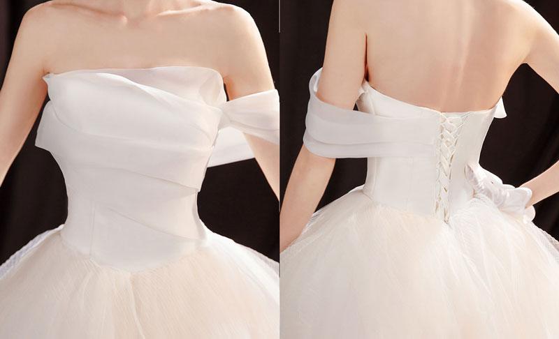 robe de mariée bustier drapé dos laçage