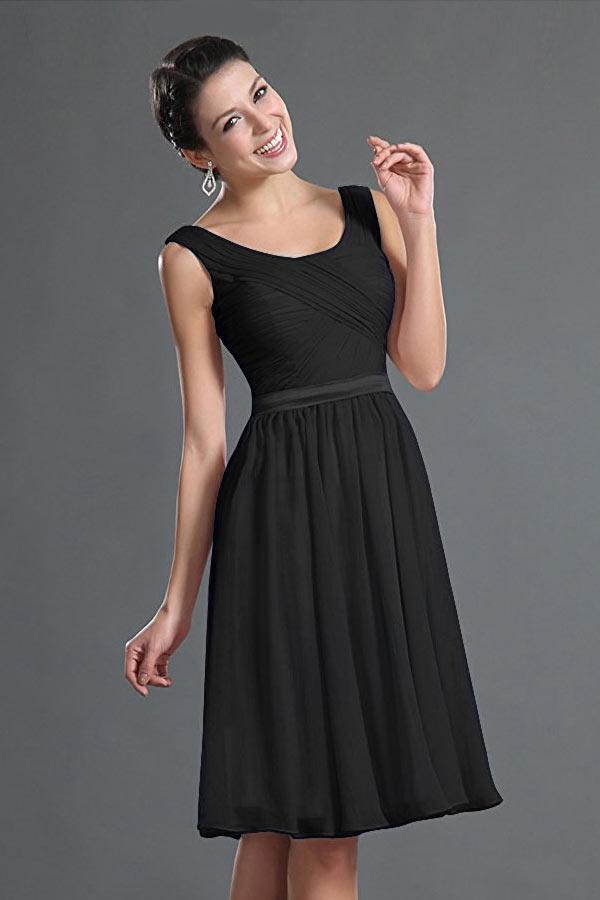 petite robe noire simple drapé