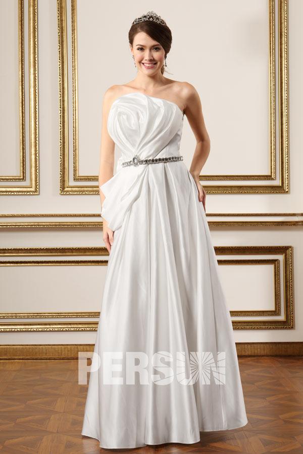 Robe de mariée moderne à bustier fleur 3D