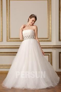 Robe de mariée princesse tutu à bustier tressé