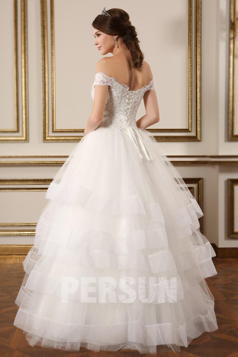 romantique robe de mari e paule d nud e coupe princesse. Black Bedroom Furniture Sets. Home Design Ideas